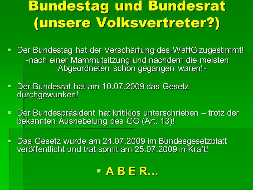 Bundestag und Bundesrat (unsere Volksvertreter )