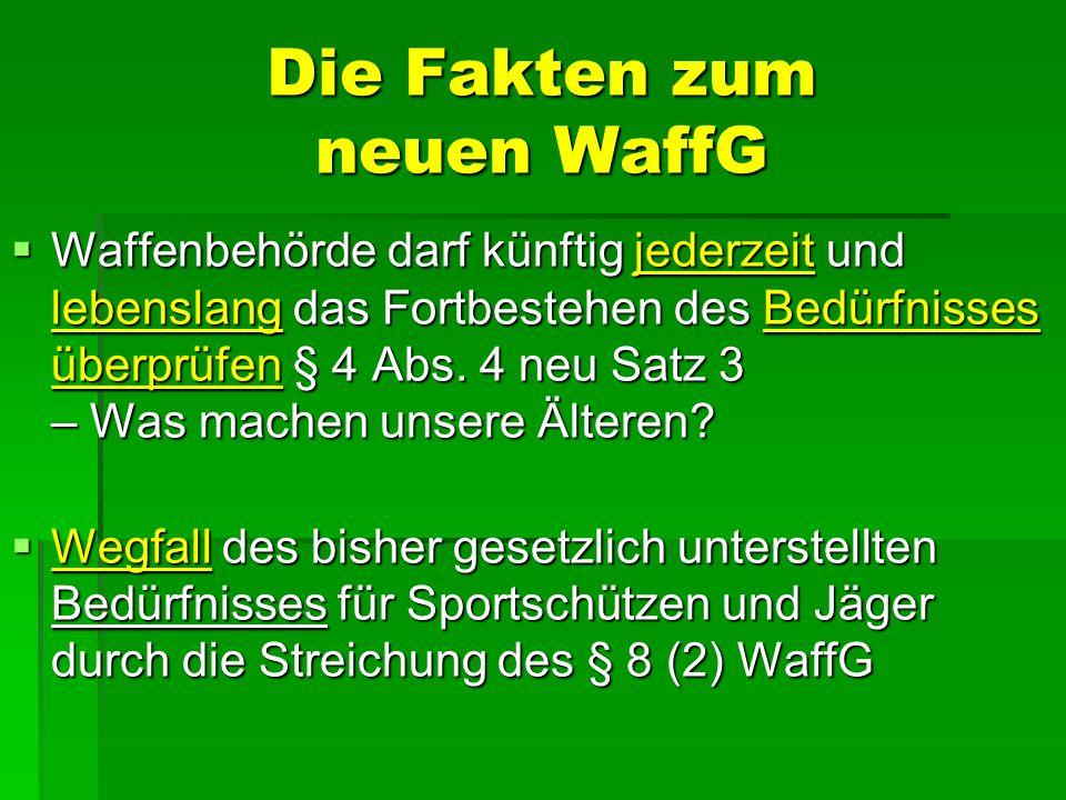 Die Fakten zum neuen WaffG