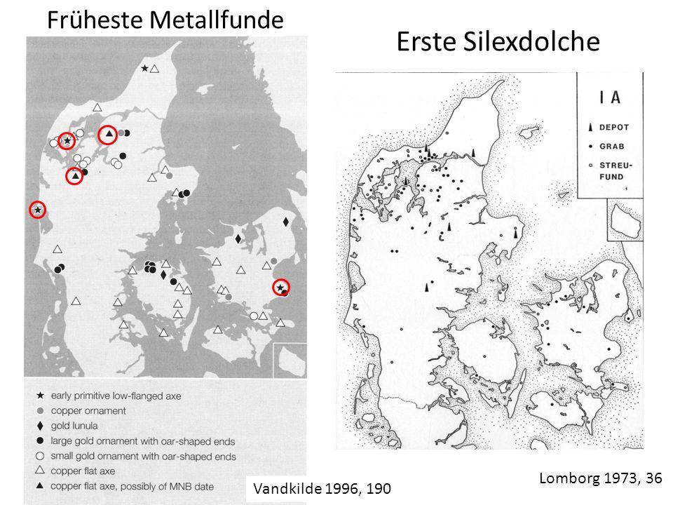 Erste Silexdolche Früheste Metallfunde Lomborg 1973, 36