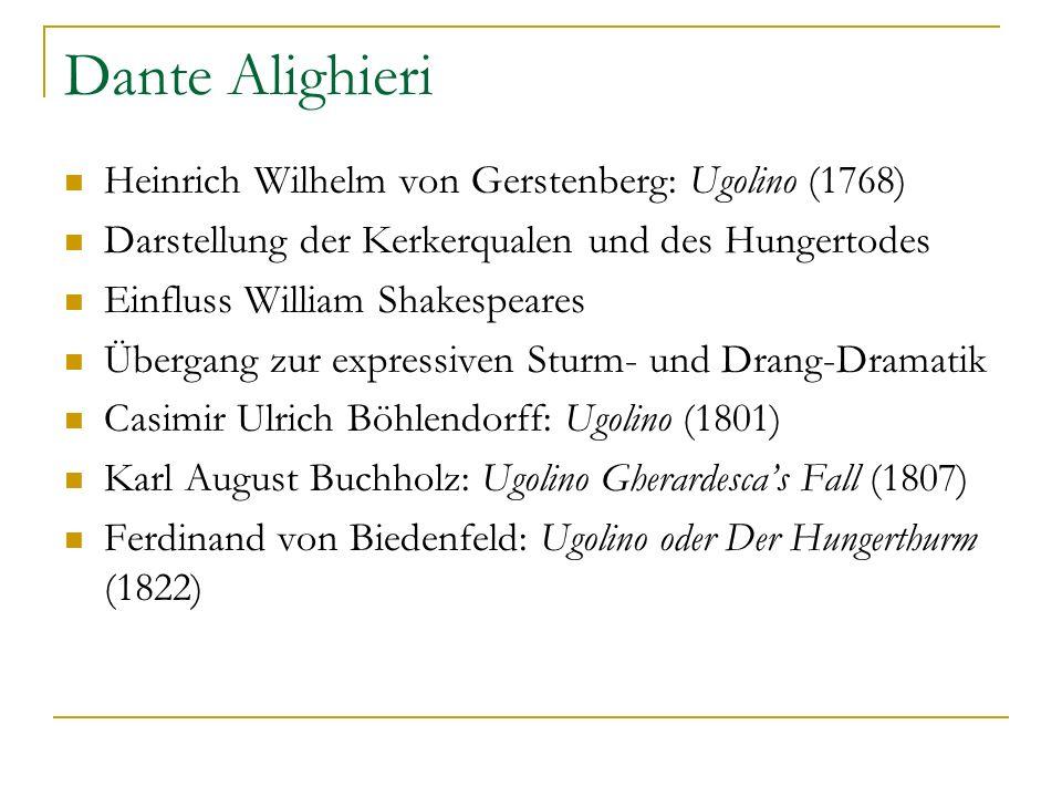 Dante Alighieri Heinrich Wilhelm von Gerstenberg: Ugolino (1768)