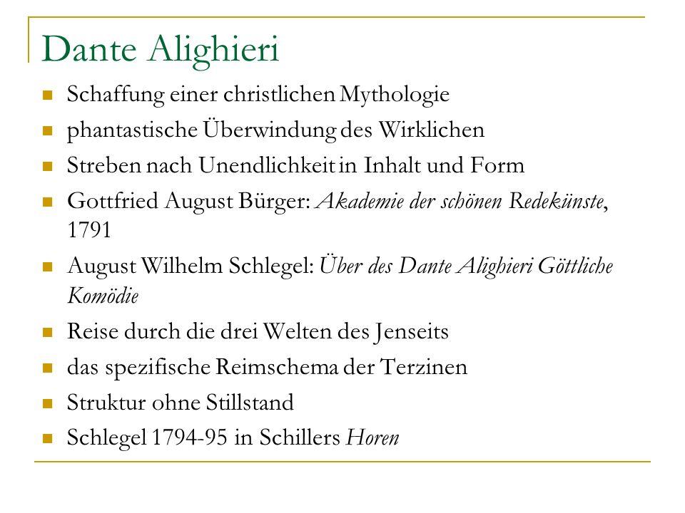 Dante Alighieri Schaffung einer christlichen Mythologie