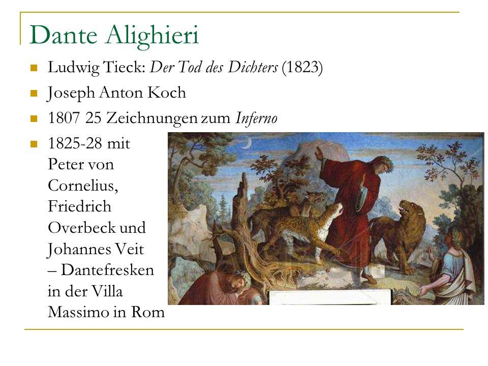 Dante Alighieri Ludwig Tieck: Der Tod des Dichters (1823)
