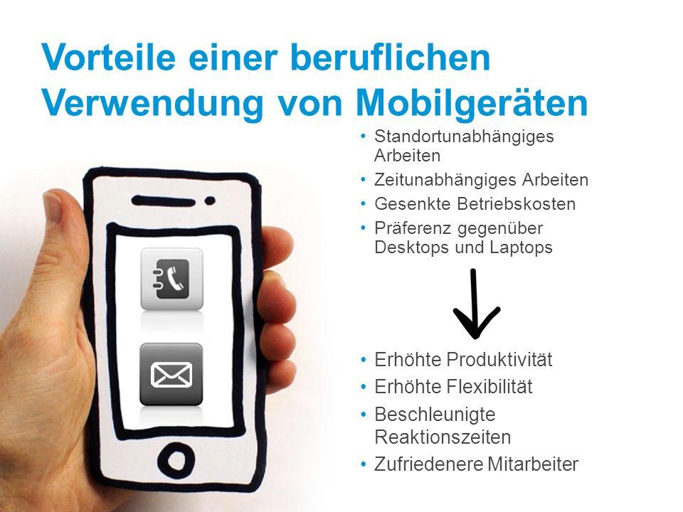 Vorteile einer beruflichen Verwendung von Mobilgeräten