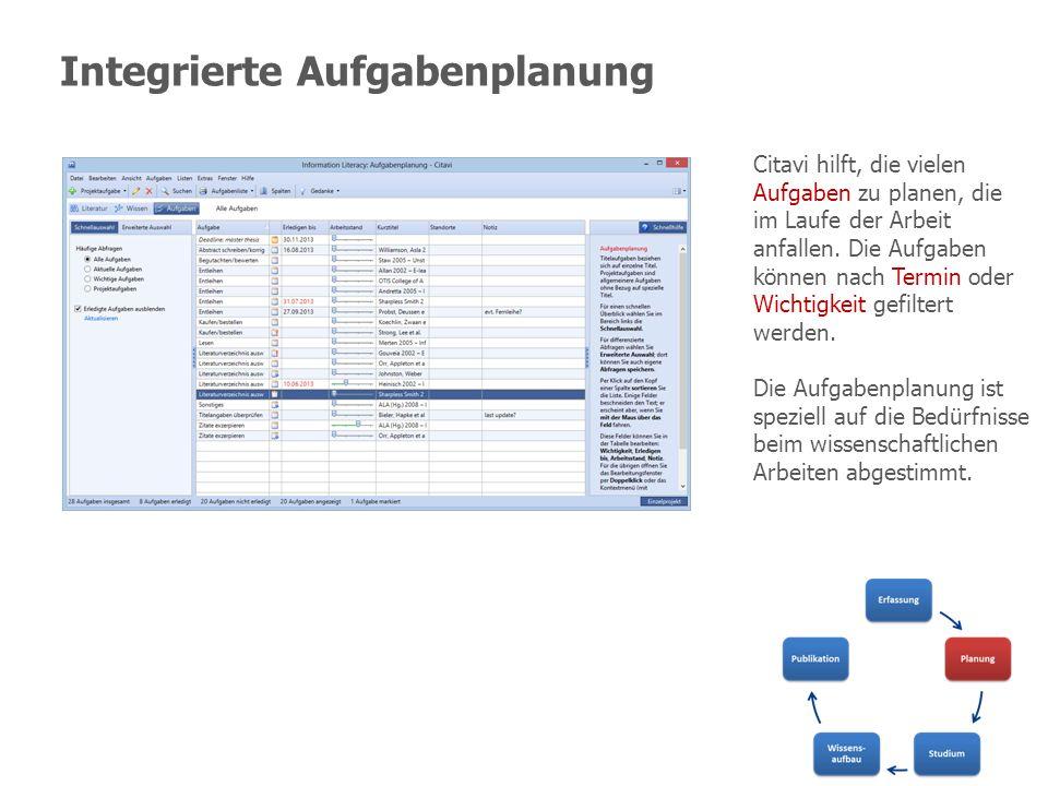 Integrierte Aufgabenplanung