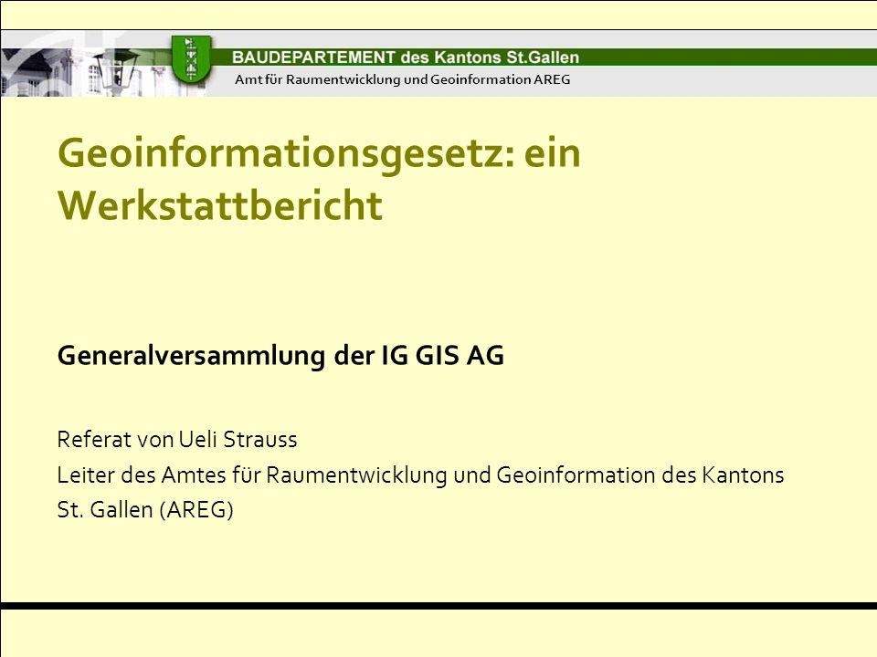 Geoinformationsgesetz: ein Werkstattbericht