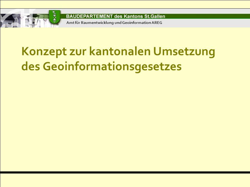Konzept zur kantonalen Umsetzung des Geoinformationsgesetzes