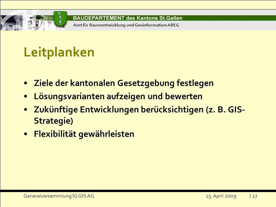 Leitplanken Ziele der kantonalen Gesetzgebung festlegen