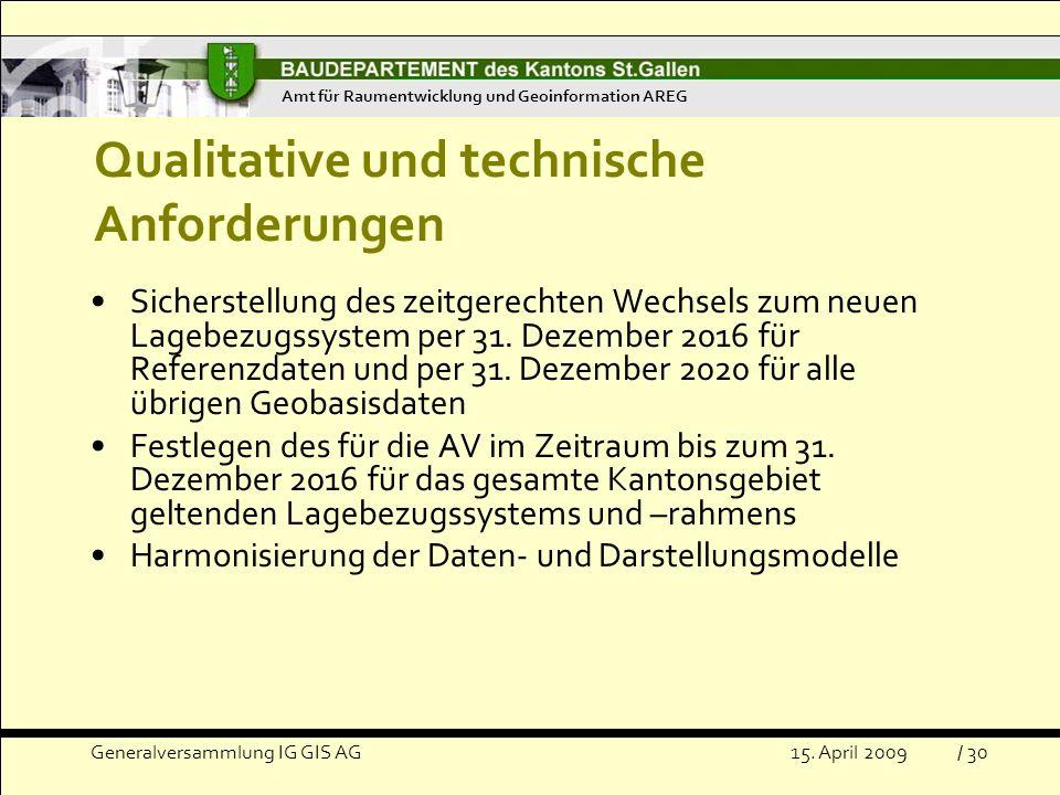 Qualitative und technische Anforderungen