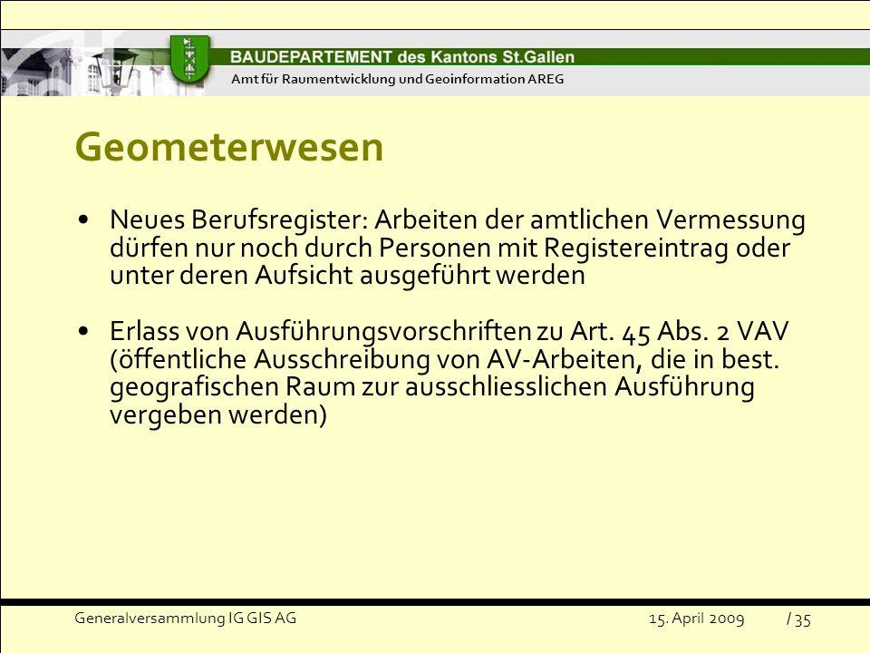 Amt für Raumentwicklung und Geoinformation AREG
