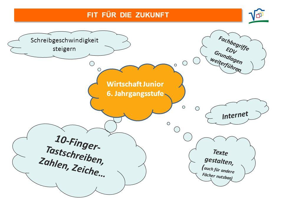 10-Finger- Tastschreiben, Zahlen, Zeiche… Wirtschaft Junior