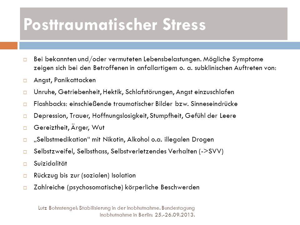 Posttraumatischer Stress