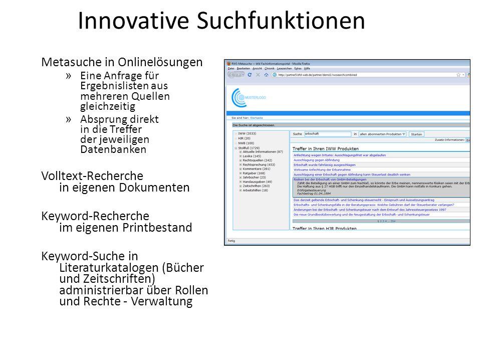 Innovative Suchfunktionen