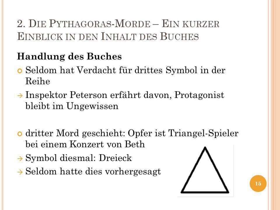 2. Die Pythagoras-Morde – Ein kurzer Einblick in den Inhalt des Buches