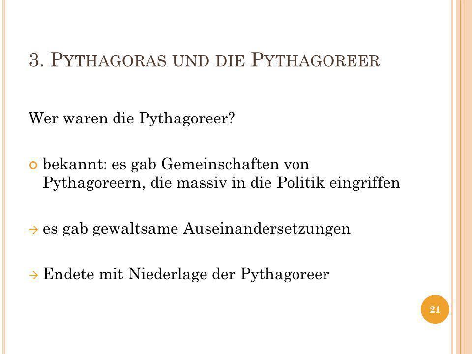 3. Pythagoras und die Pythagoreer