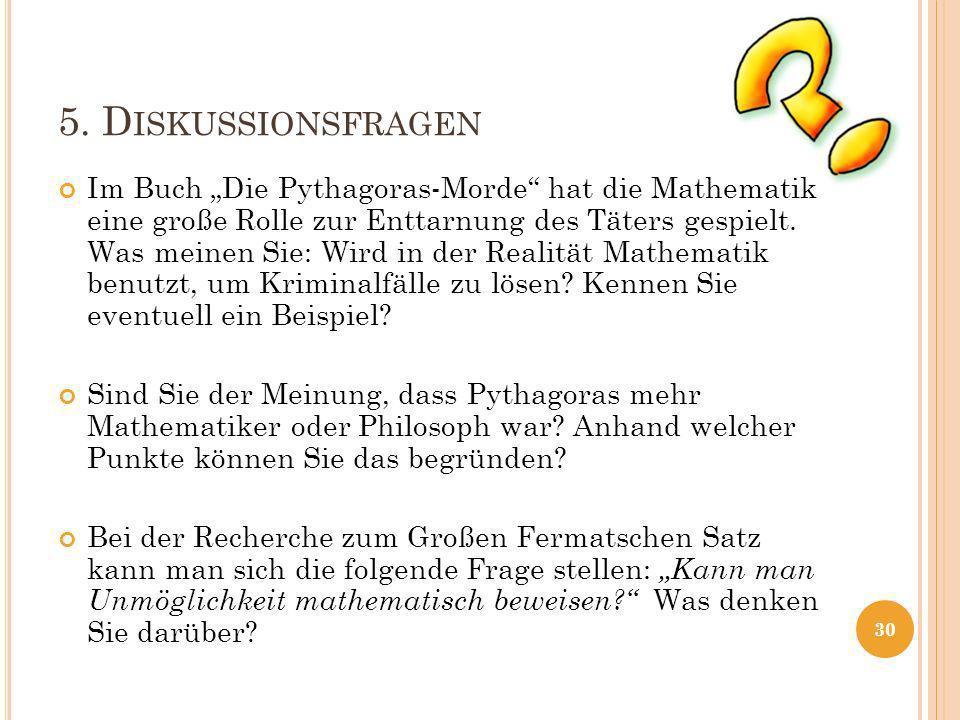 5. Diskussionsfragen
