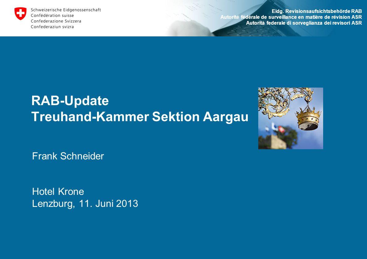 RAB-Update Treuhand-Kammer Sektion Aargau