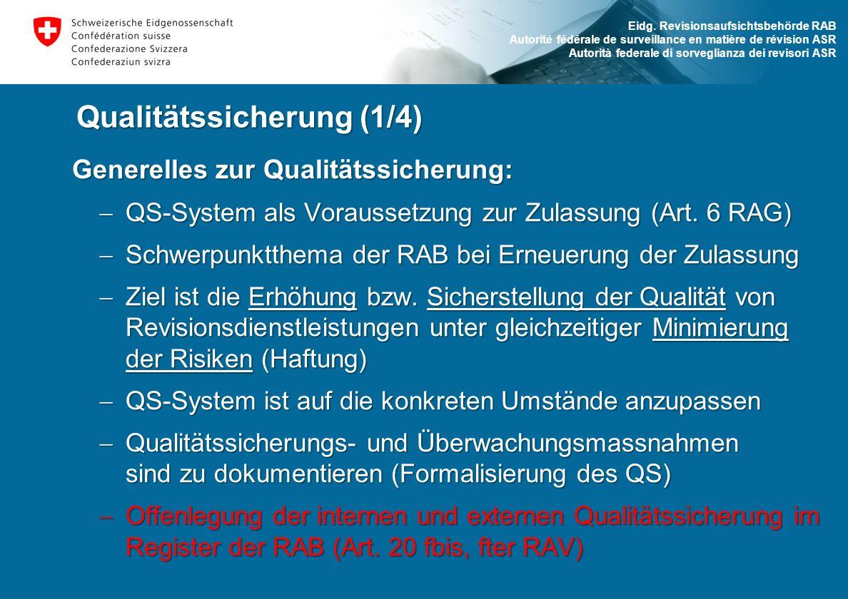Qualitätssicherung (1/4)