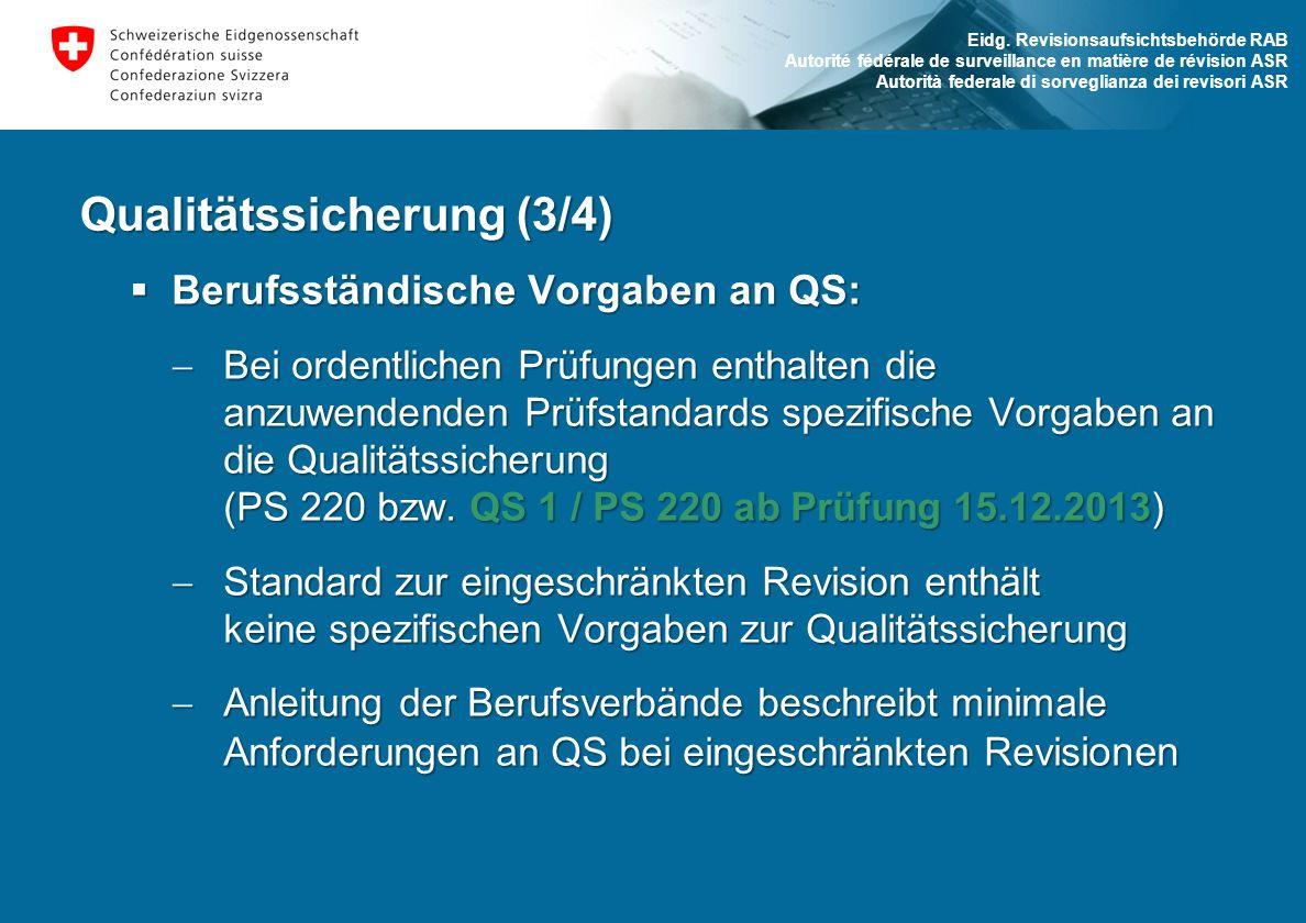 Qualitätssicherung (3/4)