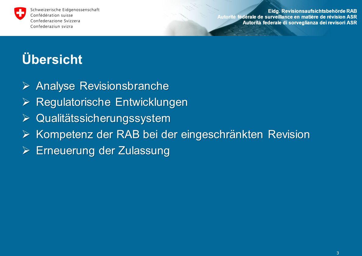Übersicht Analyse Revisionsbranche Regulatorische Entwicklungen