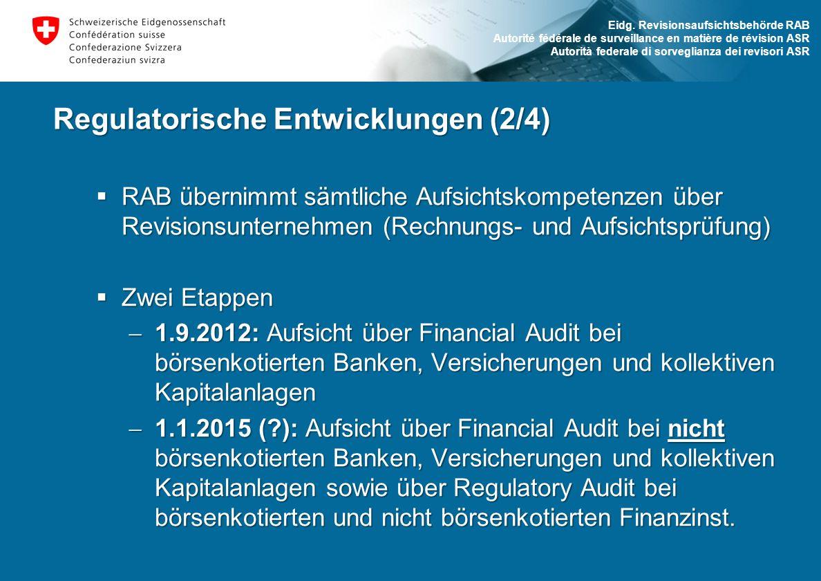 Regulatorische Entwicklungen (2/4)