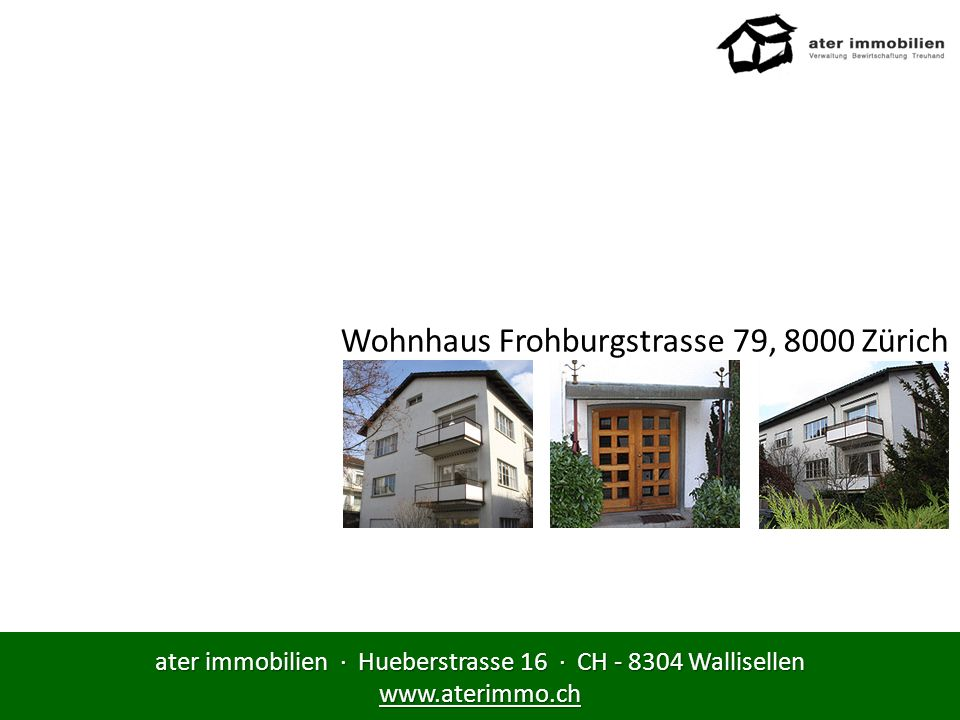 Wohnhaus Frohburgstrasse 79, 8000 Zürich