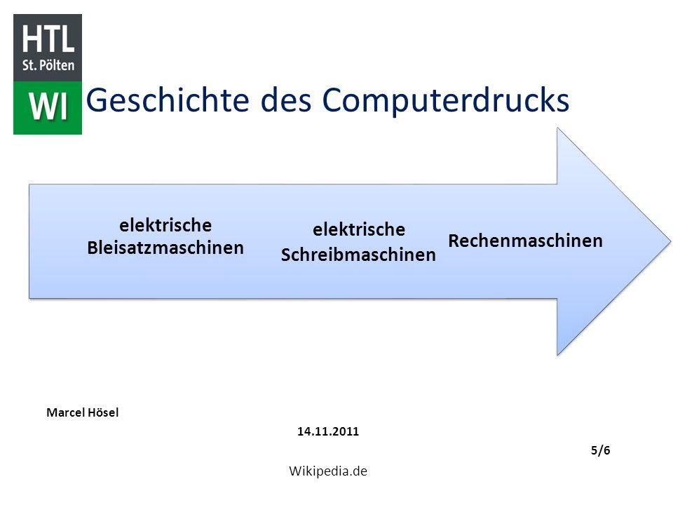 Geschichte des Computerdrucks
