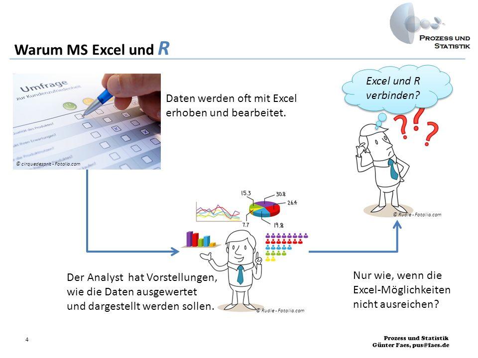 Warum MS Excel und R Excel und R verbinden