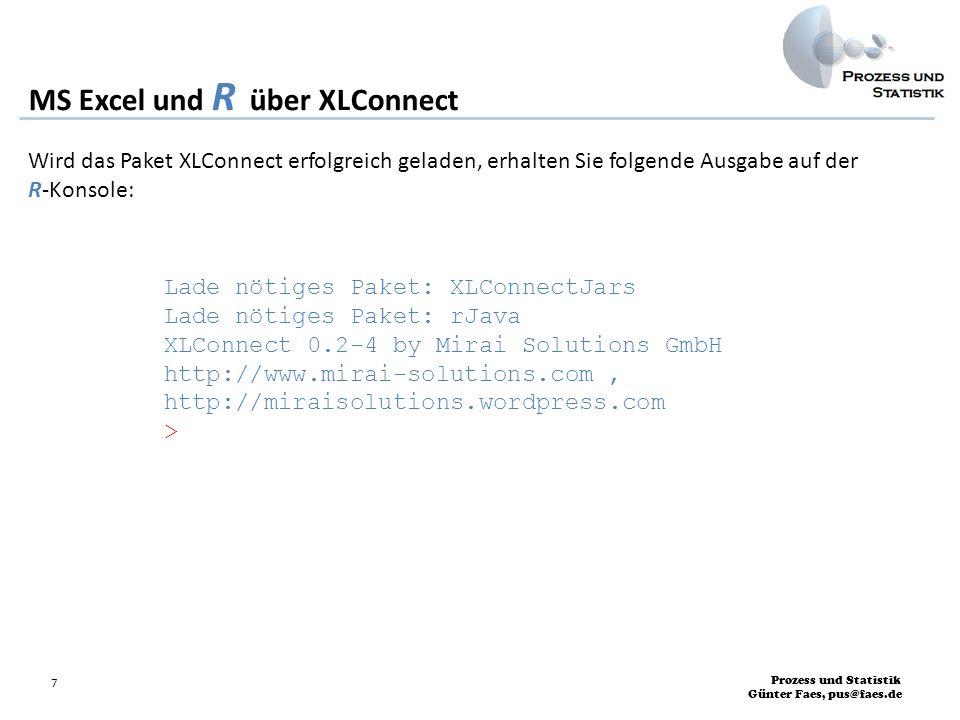 MS Excel und R über XLConnect