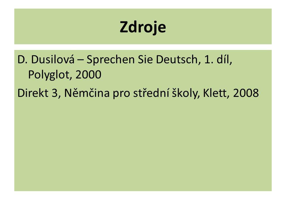 Zdroje D. Dusilová – Sprechen Sie Deutsch, 1.