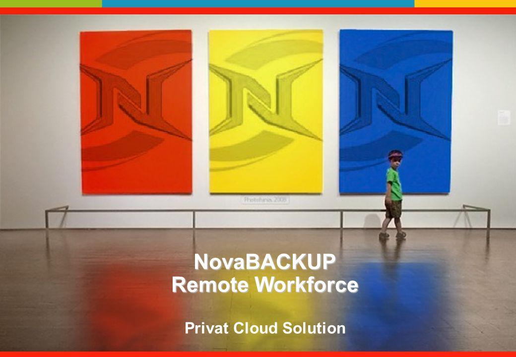 NovaBACKUP Remote Workforce Privat Cloud Solution