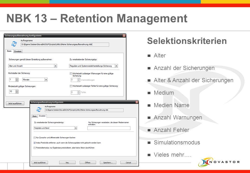 NBK 13 – Retention Management