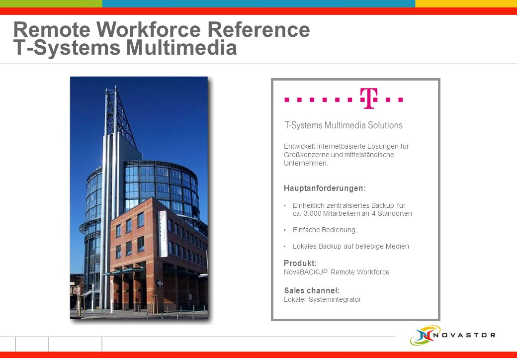 Remote Workforce Reference T-Systems Multimedia