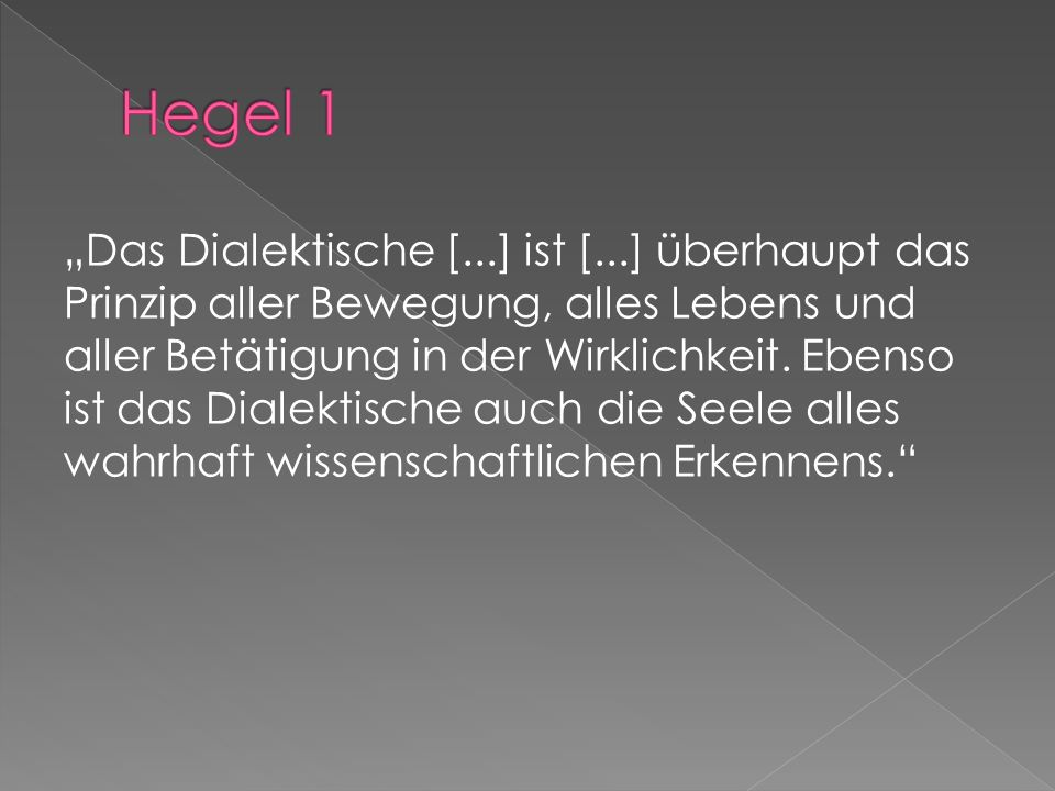 Hegel 1