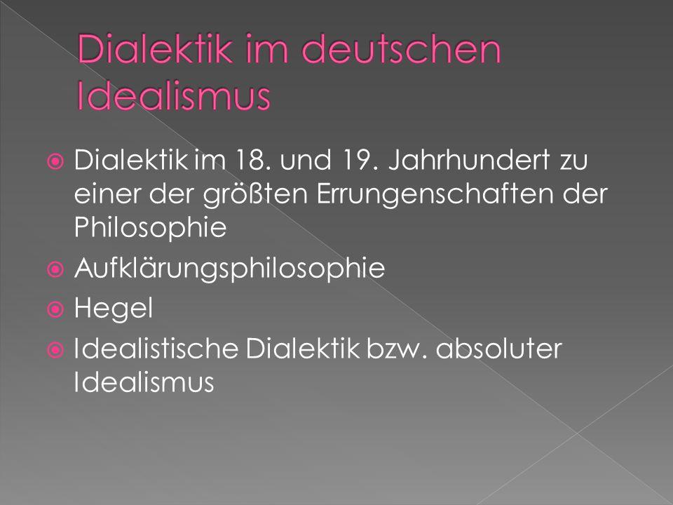 Dialektik im deutschen Idealismus