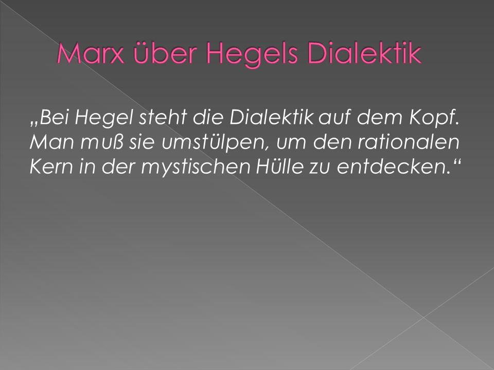 Marx über Hegels Dialektik
