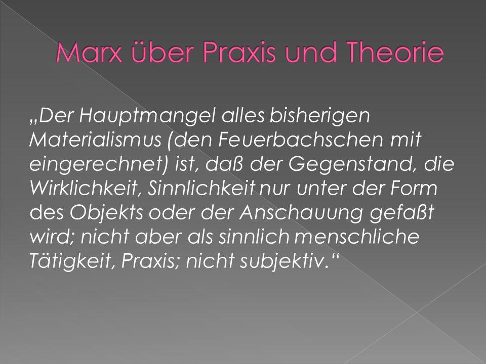 Marx über Praxis und Theorie