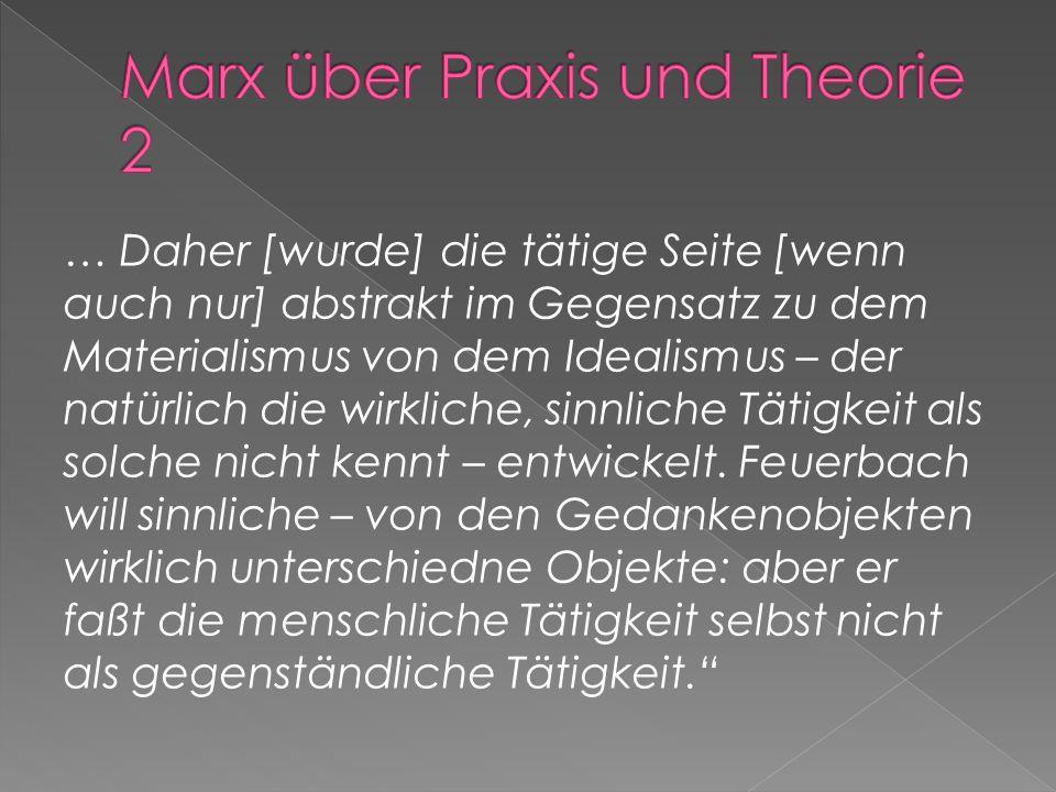 Marx über Praxis und Theorie 2