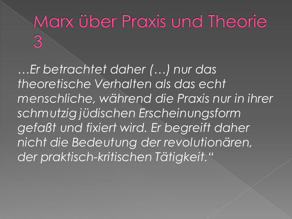 Marx über Praxis und Theorie 3