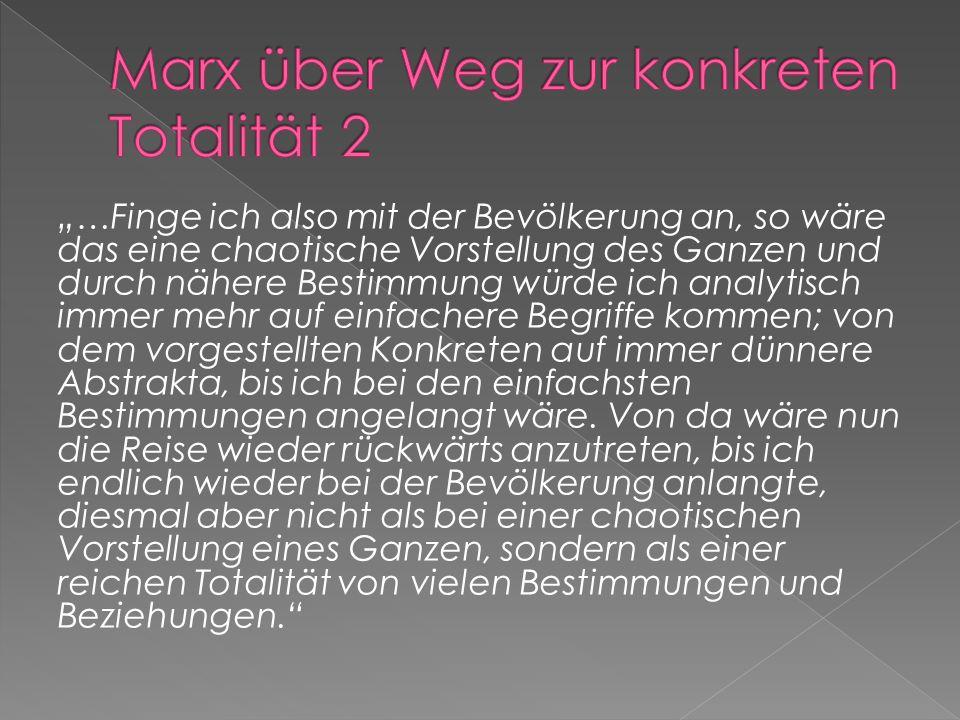 Marx über Weg zur konkreten Totalität 2