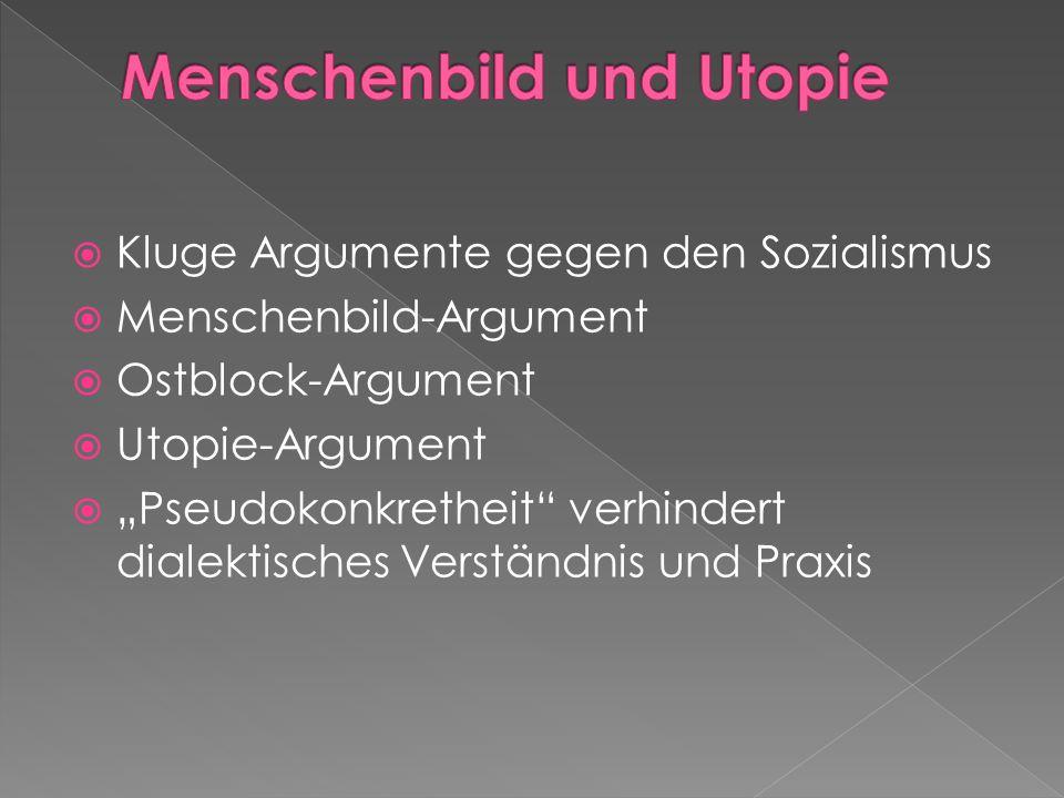 Menschenbild und Utopie