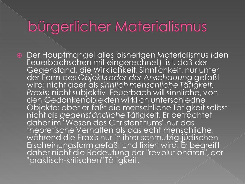 bürgerlicher Materialismus