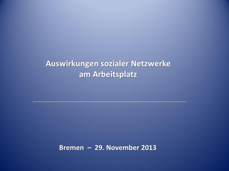 Auswirkungen sozialer Netzwerke am Arbeitsplatz