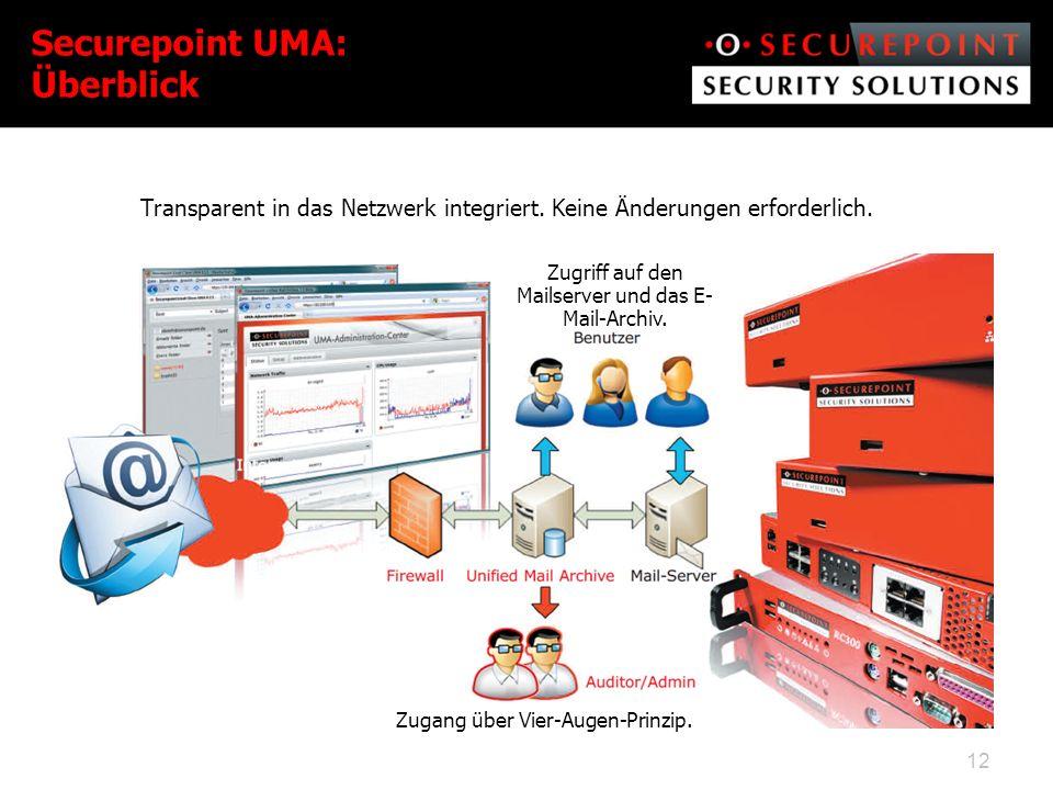 Securepoint UMA: Überblick