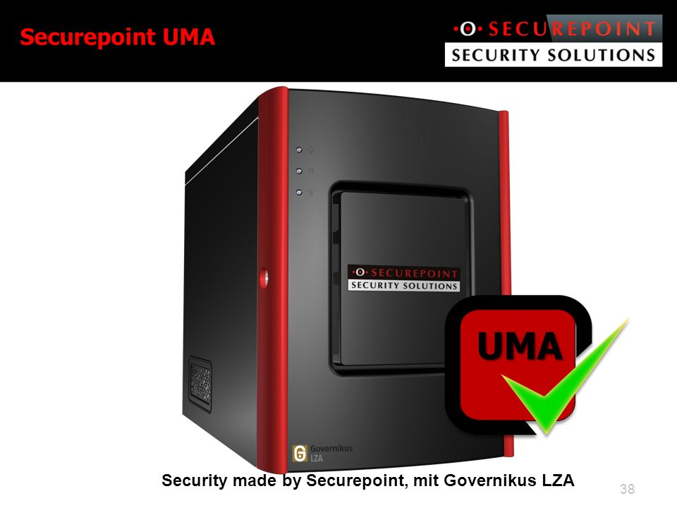 Securepoint UMA UMA Security made by Securepoint, mit Governikus LZA