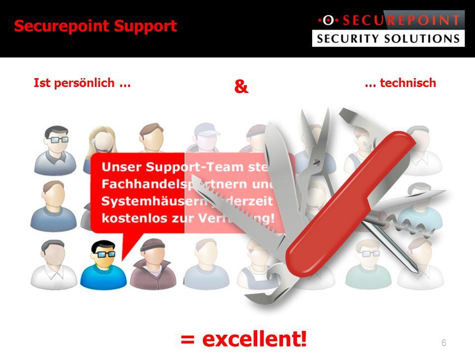 Securepoint Support Ist persönlich … & … technisch = excellent!