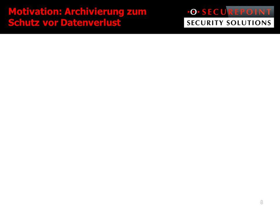 Motivation: Archivierung zum Schutz vor Datenverlust