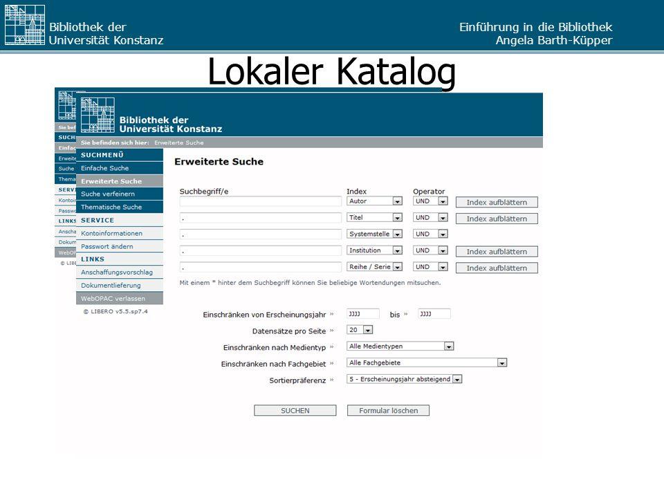 Lokaler Katalog