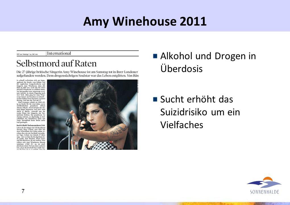 Amy Winehouse 2011 Alkohol und Drogen in Überdosis