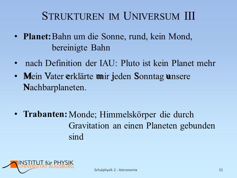 Strukturen im Universum III