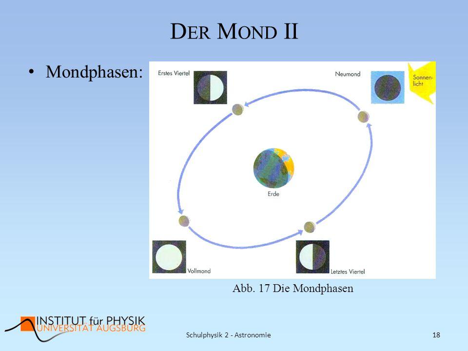 Schulphysik 2 - Astronomie